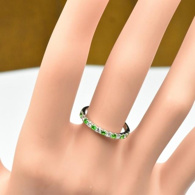綺麗 デマントイドガーネット プラチナ リング 10号 指輪   レディースのアクセサリー(リング(指輪))の商品写真