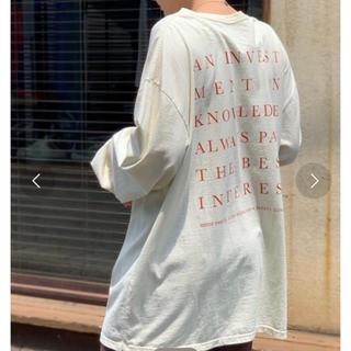 トゥデイフル(TODAYFUL)のトゥデイフル バックプリントロングT(Tシャツ(長袖/七分))