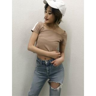 ジェイダ(GYDA)の新品 GYDA ジェイダ ラインスクエアネックTシャツ (Tシャツ(半袖/袖なし))