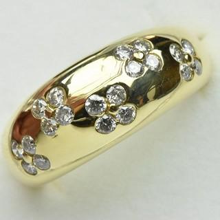 K18 ゴールド 合計 0.50ct ダイヤモンドリング 9.5号 指輪  (リング(指輪))