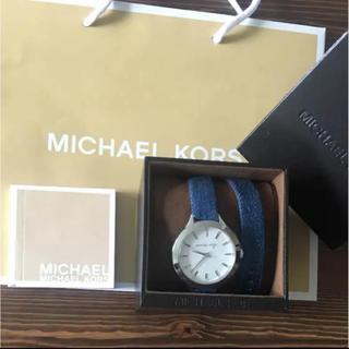 マイケルコース(Michael Kors)のマイケルコース 腕時計 新品未使用 デニムレザーベルト ラスト(腕時計)