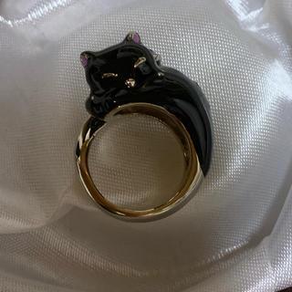 アナスイ(ANNA SUI)のアナスイ猫のリング ネコ指輪 超美品 XL16号(リング(指輪))