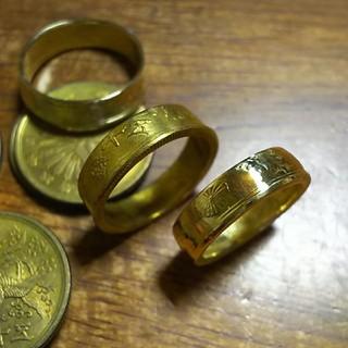 五十銭 昭和二十一年で指輪をお作りします。(リング(指輪))