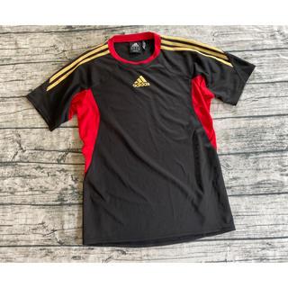 adidas 黒と赤のシャツ MENS M