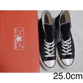コンバース(CONVERSE)の25.0cm コンバースチャックテイラー1970s ct70 ハイカット 黒(スニーカー)