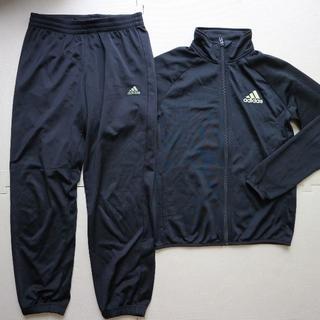 adidas - アディダス150cm薄手ジャージ上下/黒色/adidas