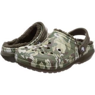 クロックス(crocs)のクロックス サンダル クラシック ラインド ボア付 24cm カモフラ柄(サンダル)