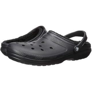 クロックス(crocs)のクロックス サンダル クラシック ラインド クロッグ ボア付 25cm ブラック(サンダル)