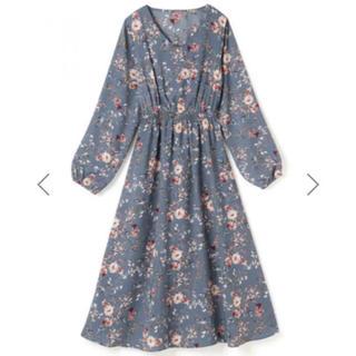 GRL - 美品!GRL ロングワンピース 花柄ワンピース ブルー