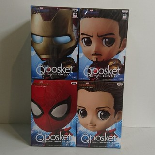 バンプレスト(BANPRESTO)のQposket アイアンマン スパイダーマン セット(アメコミ)
