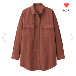 GU - ジーユー コーデュロイ オーバーサイズシャツ シャツ オーバーサイズ GU 完売