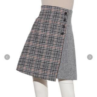 Lily Brown - ツイードチェック台形スカート