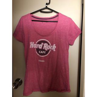 ハードロックカフェ ピンク 赤 大阪 osaka hard rock cafe(Tシャツ(半袖/袖なし))