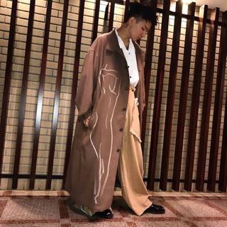 Yohji Yamamoto - 2017AW ヨウジヤマモト  パンツ スラックス 女裸コート 抜染
