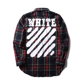 OFF-WHITE - OFF-WHITE オフホワイト メンズ チェックシャツ カジュアル 長袖