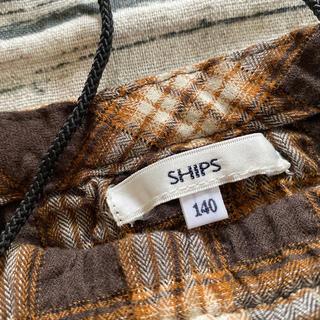 シップス(SHIPS)のships チェックのカットソー ブラウンミックス 140(Tシャツ/カットソー)