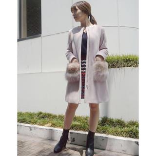 マーキュリーデュオ(MERCURYDUO)のMERCURY DUO 新品未使用 バイカラー ファーポケットコート(ロングコート)
