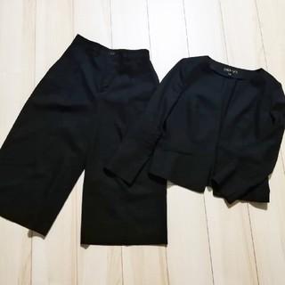 インディヴィ(INDIVI)のINDIVI セットアップ ノーカラージャケット ガウチョパンツ(スーツ)