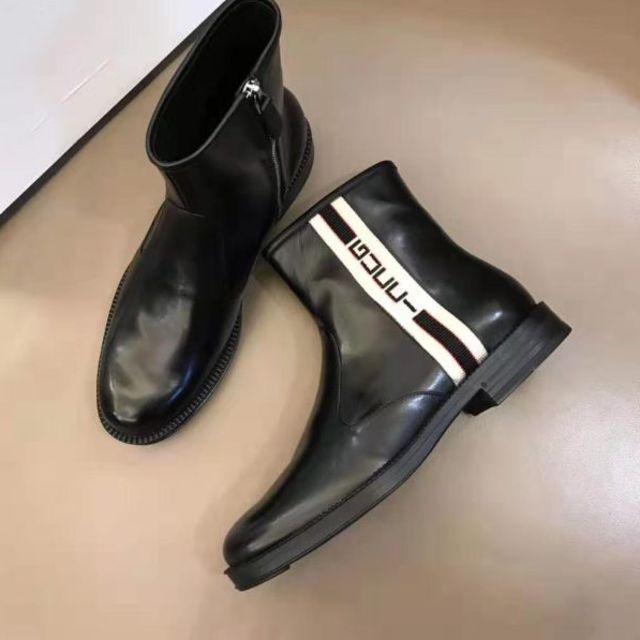 Gucci(グッチ)のグッチ ショートブーツ 25 カーフスキン メンズの靴/シューズ(ブーツ)の商品写真