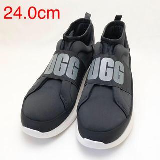 UGG - 新品 UGG アグ レディース スニーカー ブラック/ホワイト 24.0cm