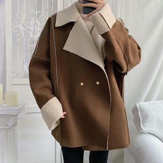 ビームス(BEAMS)の2019秋冬新作 ボア ミドルコート 冬物ファッション(ピーコート)