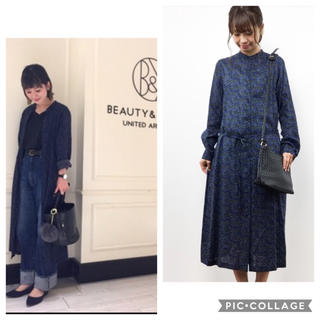 BEAUTY&YOUTH UNITED ARROWS - UNITED ARROWS BY リバティプリント ロングシャツワンピース