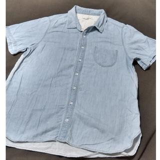 サマンサモスモス(SM2)のSM2 blue サマンサモスモス ブルー パッチワーク風シャツ (シャツ/ブラウス(半袖/袖なし))