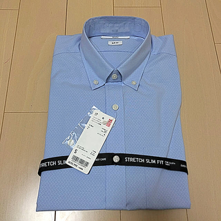 UNIQLO - 新品 ユニクロ ファインクロススリムフィット ワイシャツ カッターシャツ
