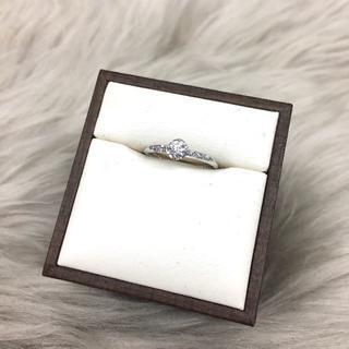 星の砂 ダイヤモンド 婚約指輪 PT950(リング(指輪))