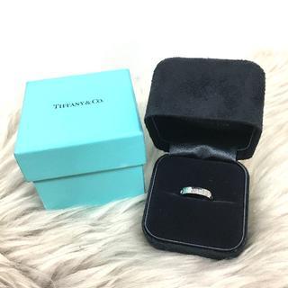 ティファニー(Tiffany & Co.)のティファニー ダイヤモンド バンドリング PT950(リング(指輪))
