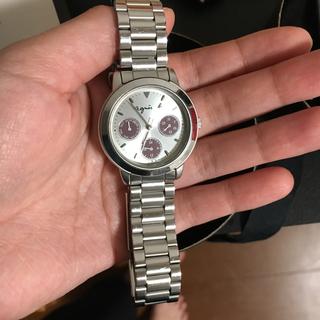 アニエスベー(agnes b.)のagnes b. アニエスベー クロノグラフ クォーツ 腕時計(腕時計)