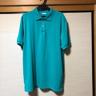 ジーユー(GU)のXL メンズポロシャツ グリーン(ポロシャツ)