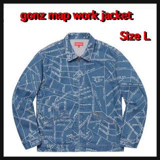 シュプリーム(Supreme)の【L】gonz map work jacket(Gジャン/デニムジャケット)