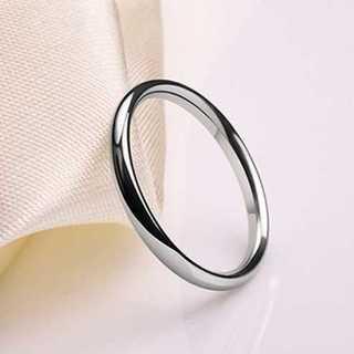 シンプルなファッションリング2mm(シルバー) サイズ:8号(リング(指輪))
