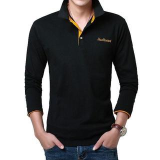 メンズ 長袖 ポロシャツ シャツ カジュアル ファッション スポーツ(ポロシャツ)