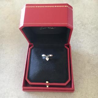 カルティエ(Cartier)のカルティエ モナムール リング ハート ダイヤ(リング(指輪))