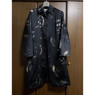 DRIES VAN NOTEN -   ドリスヴァンノッテン ウールシルク混総柄刺繍オーバーコート 【1011】