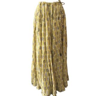 ロンハーマン(Ron Herman)のANOKHI コットンブロックプリントマキシスカート(ロングスカート)