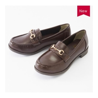 シマムラ(しまむら)の新品 S ブラウン ローファー プチプラのあや(ローファー/革靴)