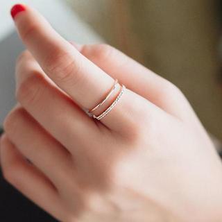 【ラッピング袋付】 レディース リング ピンクゴールド シルバー 2色展開 新品(リング(指輪))