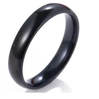 シンプルなファッションリング(ブラック) サイズ:15号(リング(指輪))