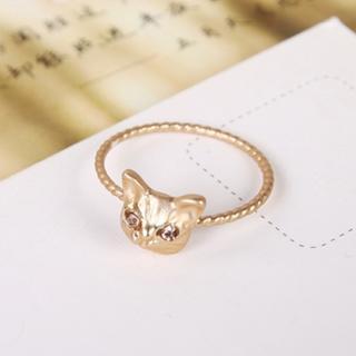 ピンク猫リング No.22(リング(指輪))