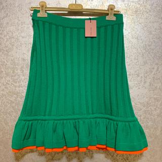 ミュウミュウ(miumiu)のmiumiu ニットスカート 新品未使用(ひざ丈スカート)