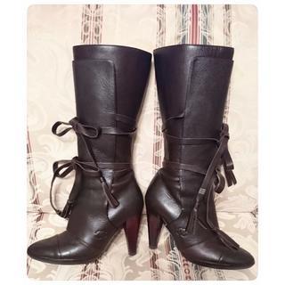 シャネル(CHANEL)の◆CHANEL◆ 2WAYブーツ ブラウン  サイズ35(ブーツ)