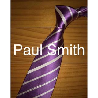ポールスミス(Paul Smith)の美品 Paul Smith ローズピンクストライプ シンプル(ネクタイ)