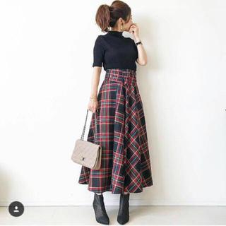 ZARA - 新品 チェック 柄 ロング スカート