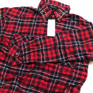イング(INGNI)のINGNI メタル付チェック柄ロールアップシャツ(シャツ/ブラウス(長袖/七分))
