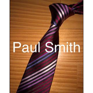 ポールスミス(Paul Smith)の超美品 Paul Smith レッドアソートストライプ(ネクタイ)
