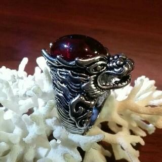 レッドクリスタルのドラゴンヘッドリング(リング(指輪))