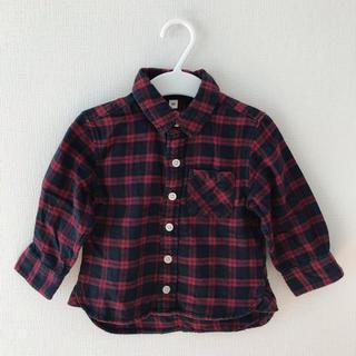 ムジルシリョウヒン(MUJI (無印良品))の無印 フランネルシャツ 80(シャツ/カットソー)